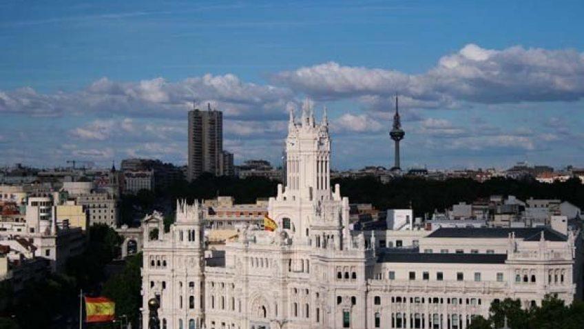 Vista al Este de Madrid, desde la azotea del Círculo de Lectores de Madrid