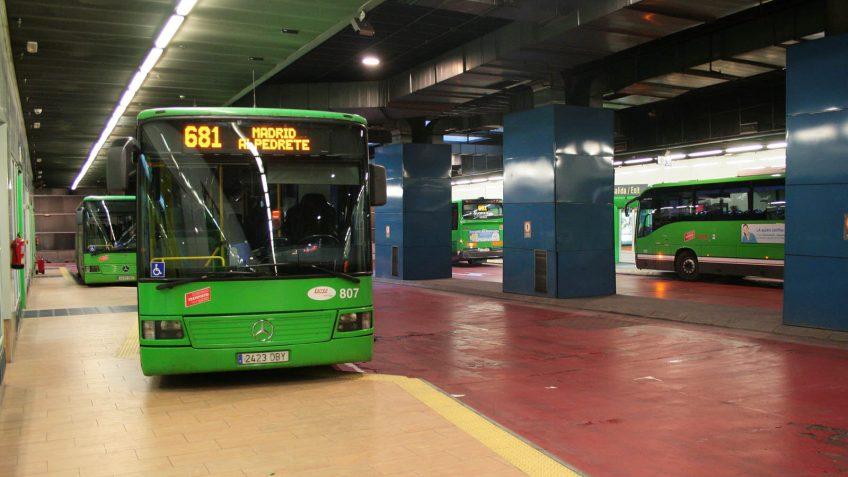 Intercambiador de Moncloa, autobuses interurbanos
