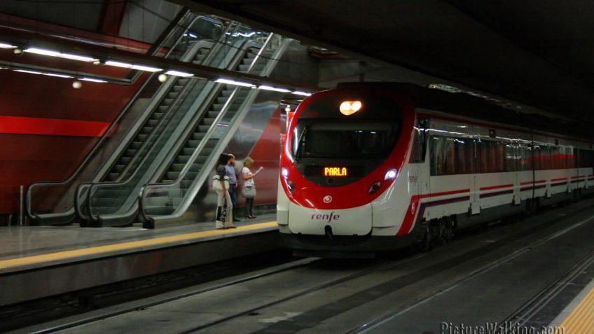 Tren de cercanías RENFE Madrid