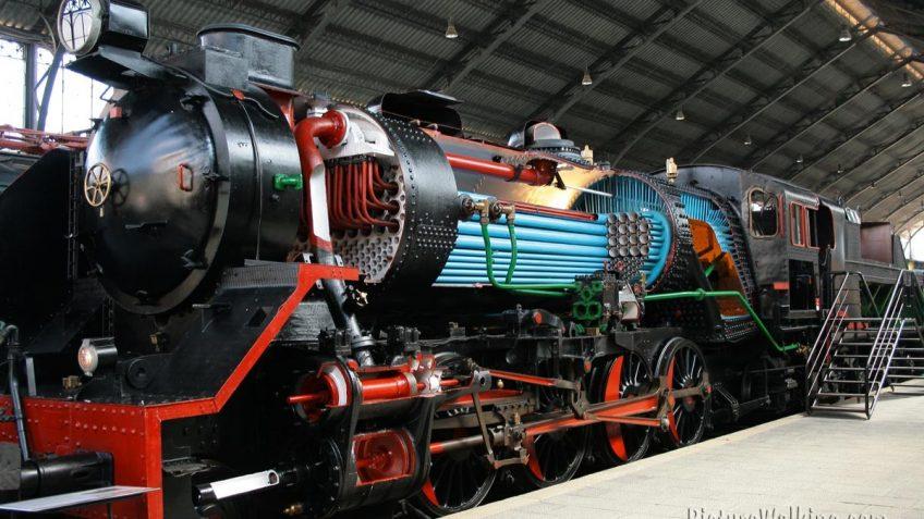 Maquina Vapor Museo del Ferrocarril de Madrid