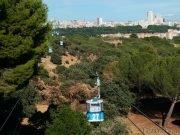 Teleferico de Madrid desde la terraza en Casa de Campo.