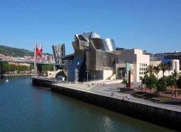 Río Nervión con el Guggenheim y el puente de La Salve, Bilbao