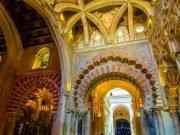 Beautiful architecture Arab Mosque of Cordoba, Spain