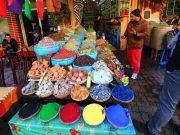 Puesto de Tintes y Minerales en Marrakech