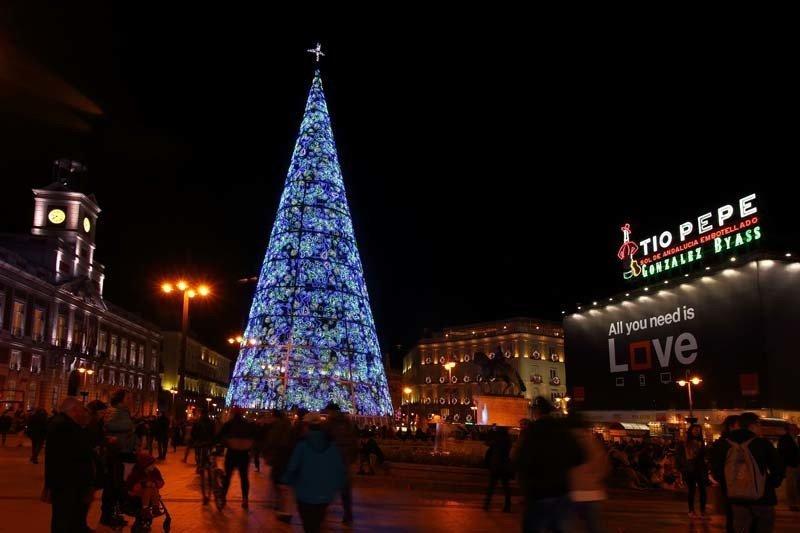 Árbol Navideno en la Puerta del Sol 2016